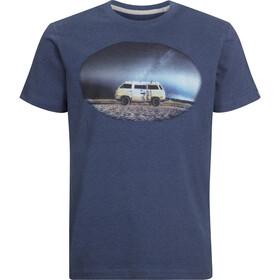 Elkline Impressions Kurzarm T-Shirt Herren bluemelange